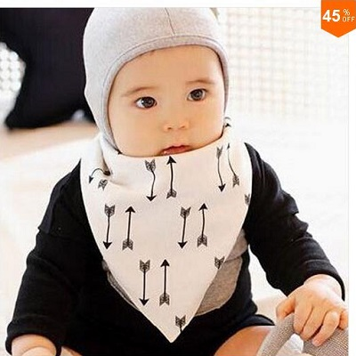 Baby Boys Bibs Cotton Clothing With Scarf