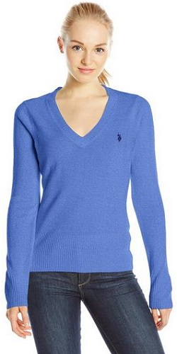 U.S. Polo Assn. Juniors' Solid V-Neck Pullover Sweater