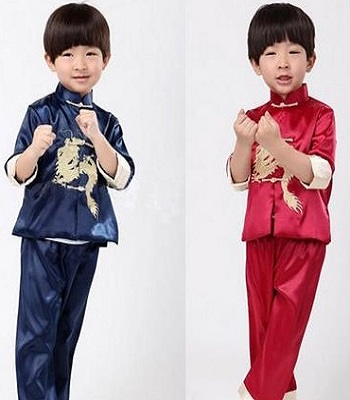 Spring and Autumn Boy Chinese Performance Costumes