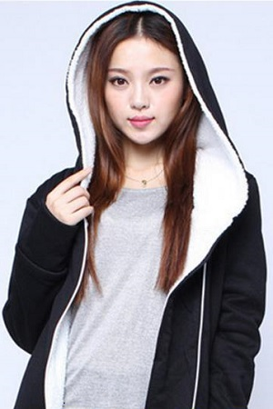 Autumn Winter Women Thick Fleece Hoodies Sweatshirt