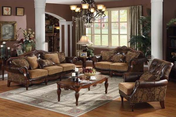 Dreena Collection 3 Piece Set Of Sofa, Loveseat And Chair