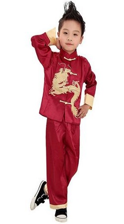 Ava Costume Traditional Chinese Boy Dragon Kungfu Outfit Tang Costume
