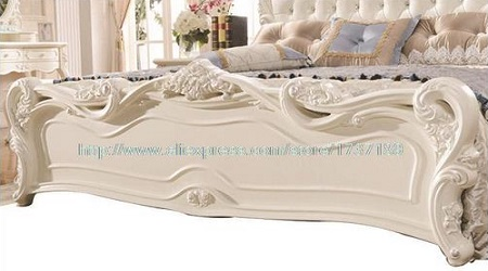 French Leather Double Bed Furniture