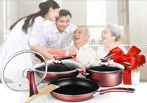 Huang Yi Cai Large Cooking 7 Non-Stick Cookware Set