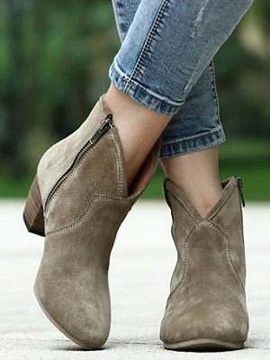 New Woman Fashion Genuine Nubuck Leather Round Toe Shoes