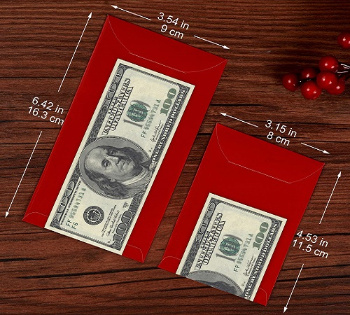Chris-Wang Deluxe Embossing Red Envelopes Money For Chinese New Year Party 2017