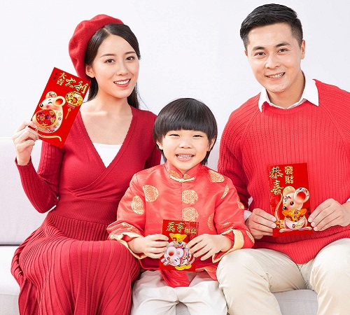 Chris-Wang Deluxe Embossing Red Envelopes Money For Chinese New Year Party 2020