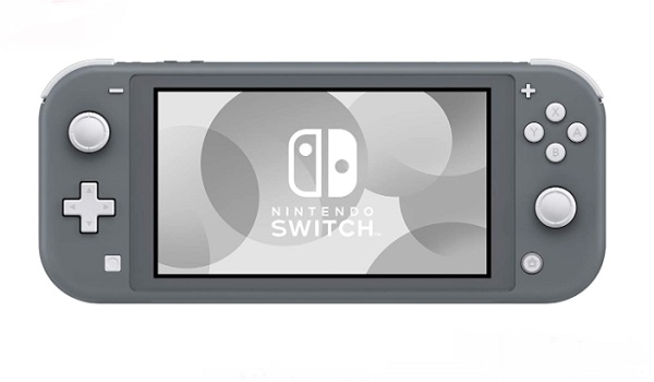 Nintendo Switch Lite Console - Gray - With SPSE 128GB Micro SD Card And Adaptor