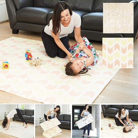XDEMODA Reversible Baby Play And Exercise Mat
