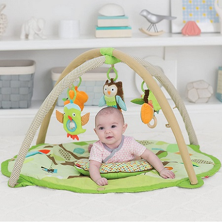 Skip Hop Treetop Friends Baby Play Mat and Infant Activity Gym