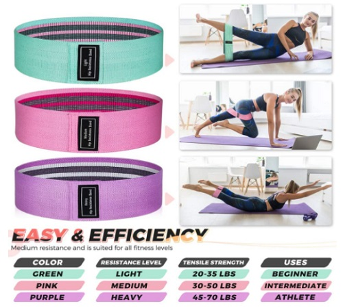 Booty And Resistance Bands For Legs And Butts