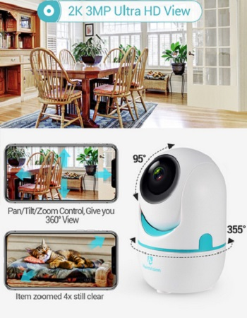 HeimVision HM202A 2K Security Camera 3MP Wireless Wifi 2 Way