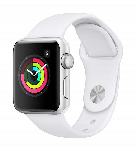 Apple Watch Series 3 With White Sport Band