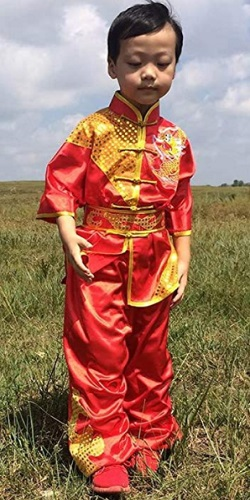 CRB Fashion Boys Kung Fu Master Tai Chi Costume