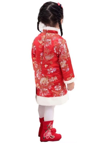 Baby Girls Dress Chinese Qipao Outfits Traditional Cheongsam