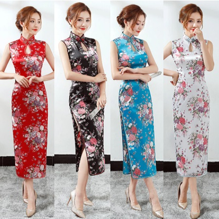Long Style Woman Floral Chinese Qipao