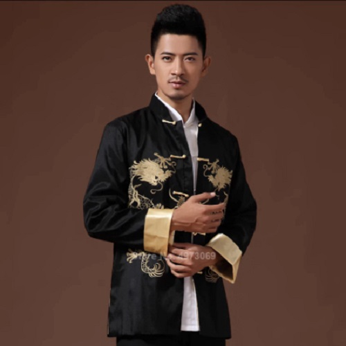 Male Clothes 2020 Embroidery Dragon Traditional